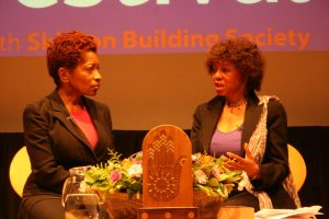 Bonnie Greer and Margaret Busby at the 2012 Award Ceremony